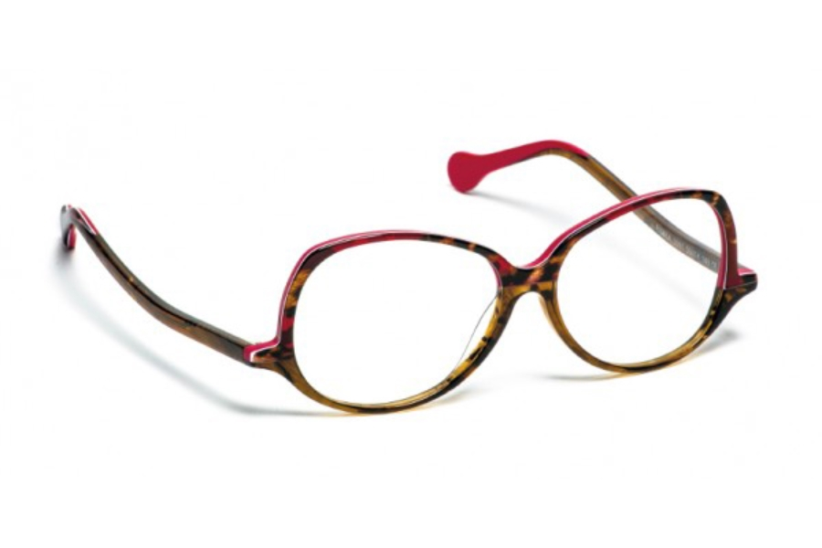 BOZ Bimba Eyeglasses in 3991 Rouge Jungle/Brun Nuage